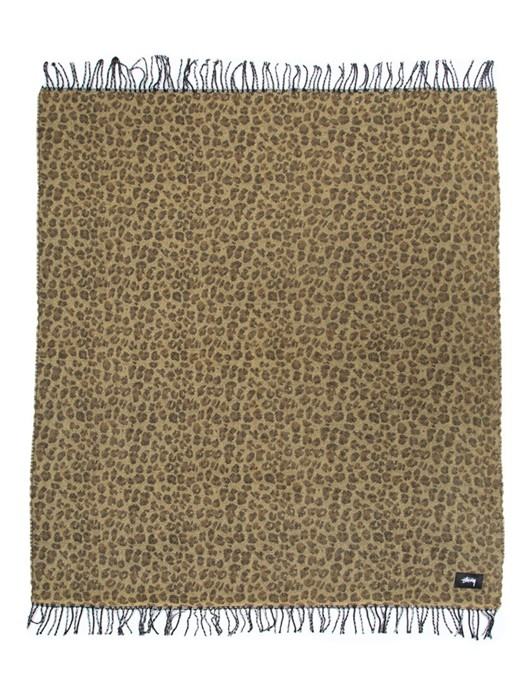 DBL FACED LEOPARD PLAID BLANKET
