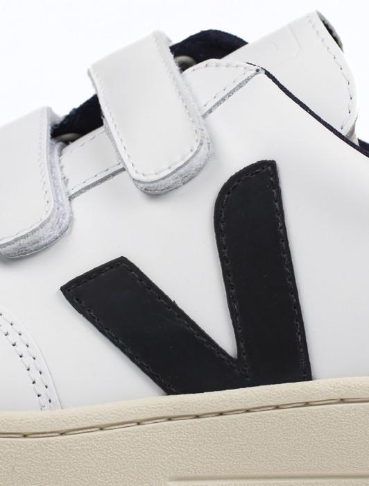V-12 VELCRO LEATHER EXTRA WHITE BLACK