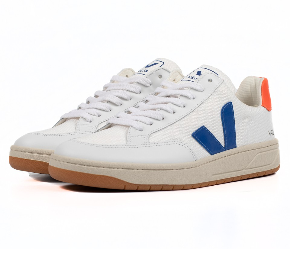 V-12 B-MESH WHITE INDIGO ORANGE FLUO
