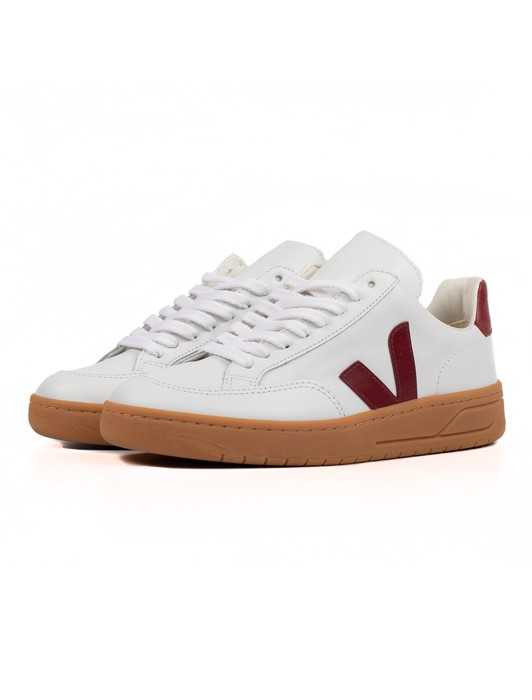 V-12 LEATHER EXTRA WHITE MARSALA
