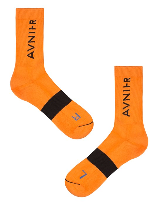 LINE ORANGE SOCKS