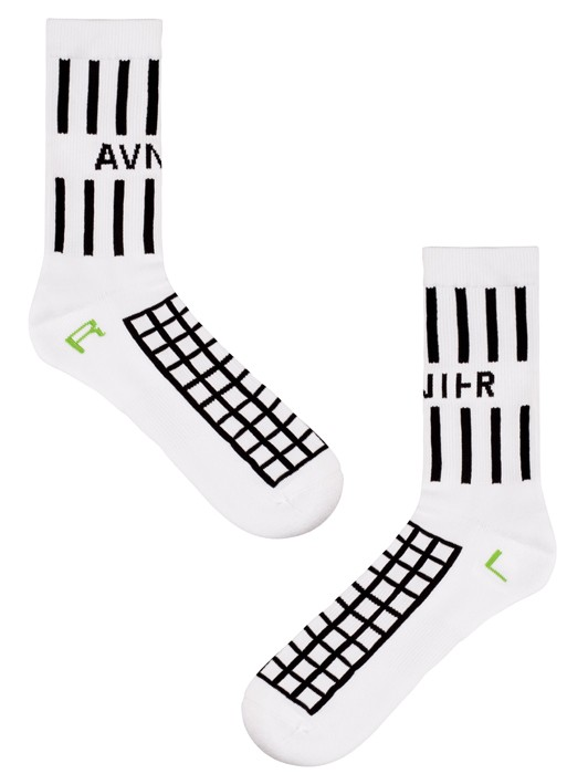 WHITE GRILLE SOCKS