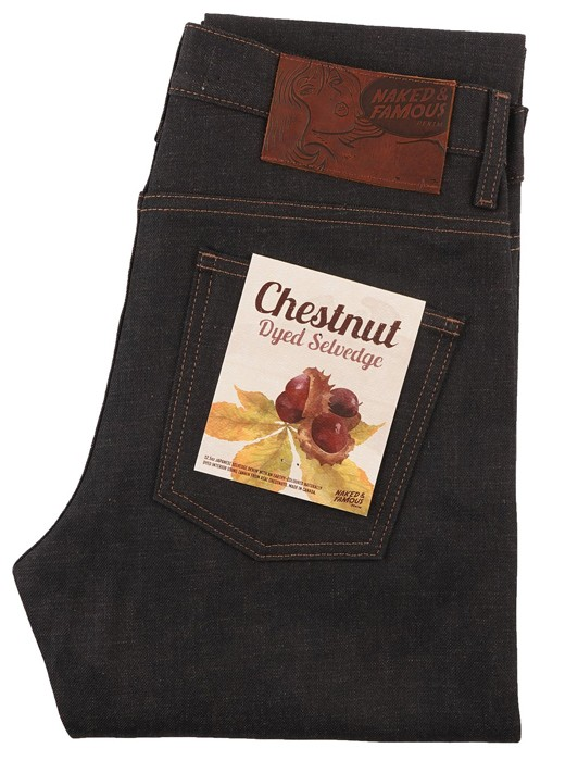 SUPER GUY CHESTNUT DYED SELVEDGE