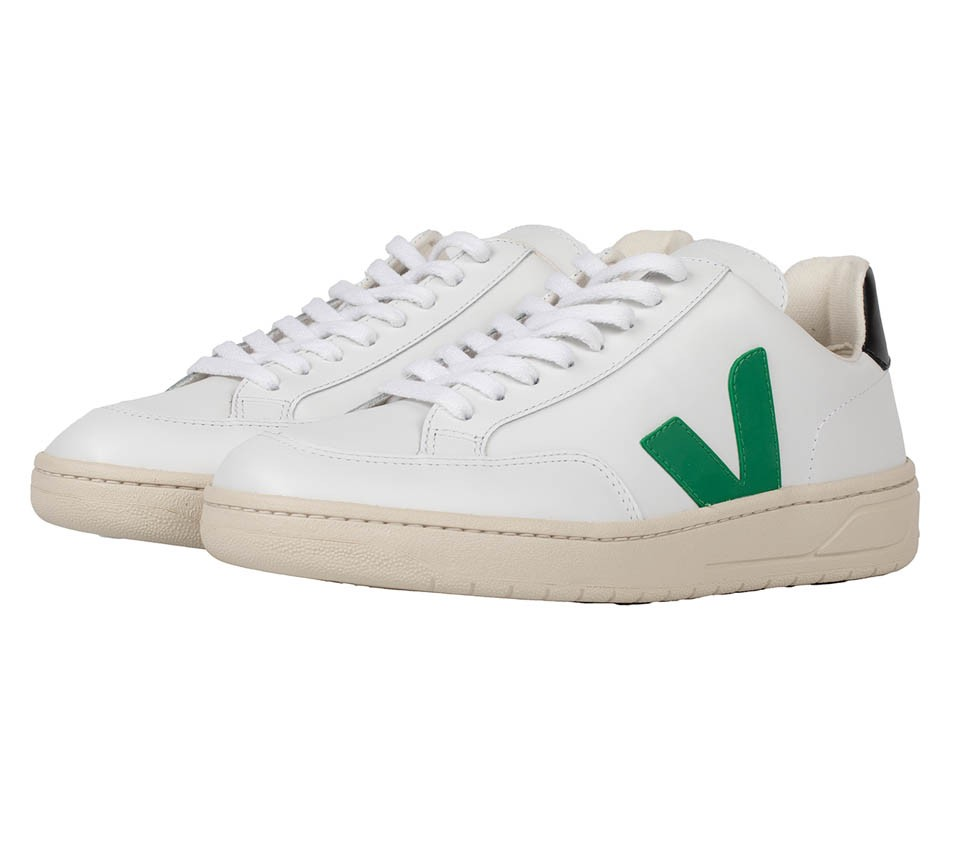 V-12 LEATHER EXTRA WHITE EMERAUDE BLACK