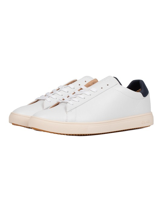 BRADLEY WHITE NAVY VEGAN LEATHER