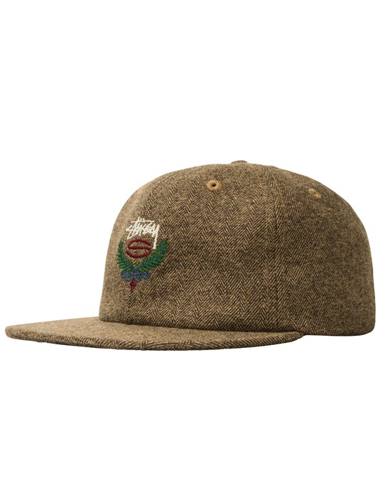BIG HERRINGBONE STRAPBACK CAP